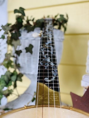 Mother-of-Pearl vine fingerboard inlay